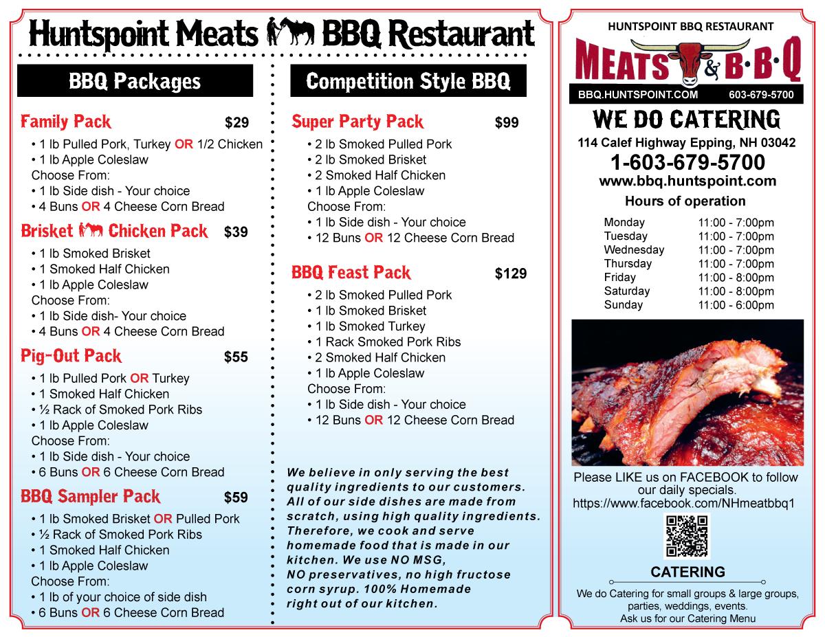 BBQ Menu Page 2