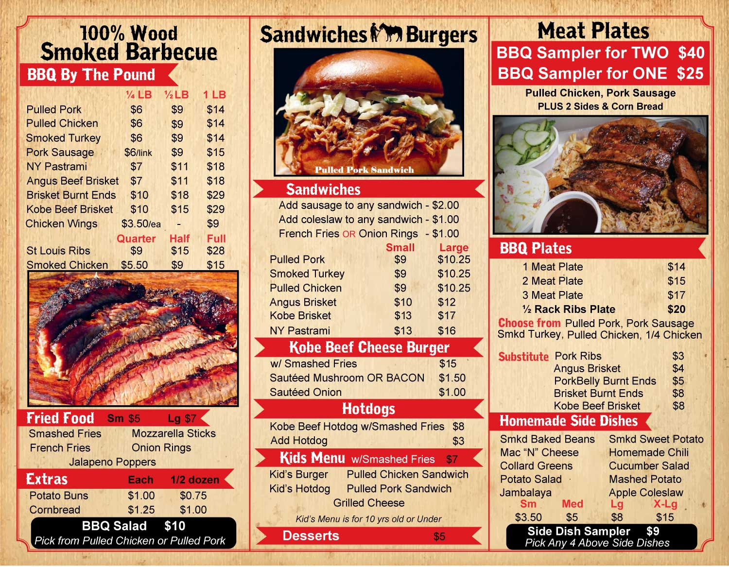 Menu Huntspoint Bbq The Best Bbq New England